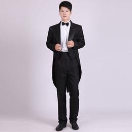 $enCountryForm.capitalKeyWord Australia - Customized Tailcoat White Black Groom men suit Tuxedos Notch Lapel Groomsmen Mens Wedding Suits (Jacket+Pants+bow tie)suits mens