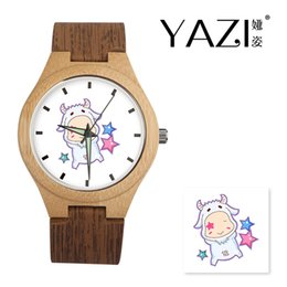 $enCountryForm.capitalKeyWord Australia - YAZI Personalize Wooden Watch Capricornus Logo Watches Natural Bamboo Wood Case Wrist Watches Wood Stripe Band Memory Gift