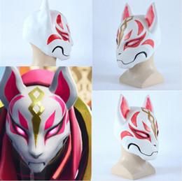 $enCountryForm.capitalKeyWord Australia - Kitsune Fortnight Mask drift Fox PVC mask battle royale full face halloween party maske costume cat larp role