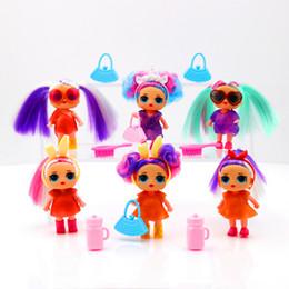 $enCountryForm.capitalKeyWord Australia - 4inch long hair Dolls with feeding bottle funko pop fashion Children Toys Anime Action Figures Realistic Reborn Dolls for girls kids toys