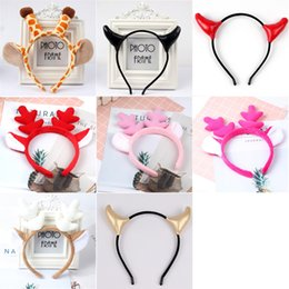 hair designs headband Australia - 8 designs Christmas antlers headband horns giraffe headband festival performance Halloween headband Hair Accessories Tools Wholesale KFJ711