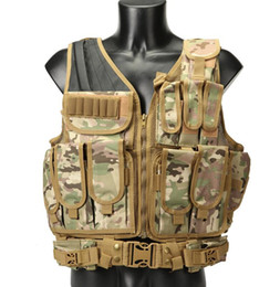 army combat vest 2020 - Tactical Vest Airsoft Paintball Combat Armor Vests Mens Outdoor Hunting Vest Army Gear Adjustable Armor Jungle Tactical