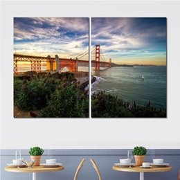 $enCountryForm.capitalKeyWord Australia - 2 panels canvas prints art painting san francisco sailboat flowers for home decor no frame