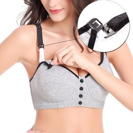 Nurse Clothes Free NZ - Cotton Maternity Nursing Bra Wire Free Sleep Bras For Nursing Pregnant Women Underwear Clothes Breatfeeding Bras SM7