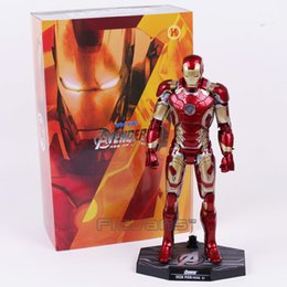 China Hot Toys Avengers Age Of Ultron Iron Man Mark Mk 43 With Led Light Pvc Action Figure Collectible Model Toy C19041501 cheap avengers age ultron toys suppliers