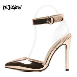910aaa77fed02 Bling Sandals Australia - Dress Shoes Dijigirls Fashion Summer Women Pumps  Wedding Bling + Pvc Clear
