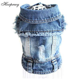 Wholesale outfits for easter online – ideas Pet Clothes Designer Dog Clothes for Small Dogs Cool Jeans Jacket for French Bulldog Denim Coat Dog Outfit for Chihuahua