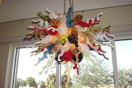 $enCountryForm.capitalKeyWord Australia - Hot Sale Luxury Design LED Crystal Chandelier Bedroom Kitchen Living Room Stained Color Glass Artistic Ceiling Lights