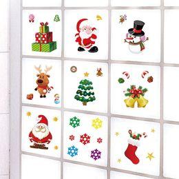 $enCountryForm.capitalKeyWord Australia - Christmas Santa Claus Socks Fridge Decor Kitchen Fridge PVC Stickers Cute Fridge Sticker Art Refrigerator Wall Decals Home Decor