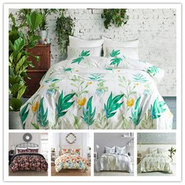 black flower comforter Australia - Flowers series Bedding Set Twin Full Queen Size Comforter Cover Set 2 3pcs with pillowcase coloueful beautiful Bedding Cover Suit