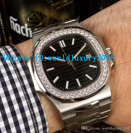 $enCountryForm.capitalKeyWord Australia - Swiss Nautilus Mens Watch 316L Steel Black   White Dial Diamond Bezel 324 SC Automatic Sapphire Crystal Classic Designer Watches