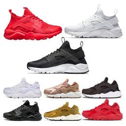 Chinese  Air Huarache Shoes Luxury Mens Womens black white Triple black Triple white all red rose gold yellow-white air Running Shoes Size 36-45 manufacturers