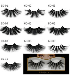 464e1936bda Newest Mink eyelashes makeup 6D mink lashes Soft Natural Thick Cross  Handmade with pack 25mm Premium High Quality DHL shipping