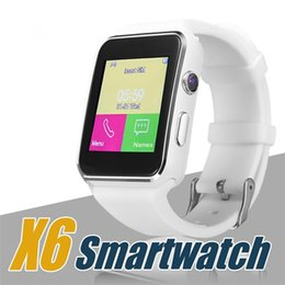 Smartphones Cameras Australia - X6 Smart Watch Curved Screen Smartwatches Bracelet Watch Support Camera SIM Card TF Card Slot Smartwatch For Android Smartphones