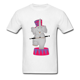 circus clothes Australia - Round Collar Full Cotton Clothes Summer Tops Tees Famous Brand Short Sleeve Tee Shirt Cute Circus Elephant Graphic T Shirt