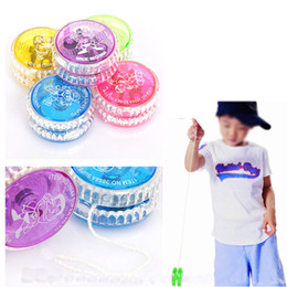 $enCountryForm.capitalKeyWord Australia - LED Light up Finger Spinning Toys for Kids YOYO Professional Colorful youyou Ball LED Trick Ball Toy for Kids Adult Novelty Games Gifts