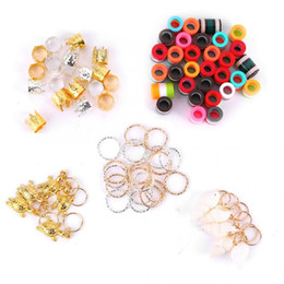 80Pcs Adjustable Dreadlocks Hair Braid Beads Rings Cuffs Wig Accessories Hair Decoration Rings Colorful Braid Cuff on Sale