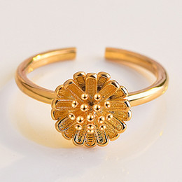 indexing plates Australia - Japan And South Korea Small Daisies Open Ring Plated 18K Rose Gold Index Finger Ring Lady Ins Decorative Joint Tail Ring Jewelry