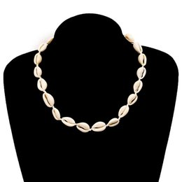 womens choker collars Australia - Designer Necklace womens Party Sea Shell Collar Choker Necklace Boho Seashell Necklaces Summer Beach Chain for Women Jewelry Accessories