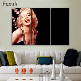 $enCountryForm.capitalKeyWord NZ - 3 Panel Modern Oil Painting Home Decorative Art Picture Paint On Canvas Prints Painting Sexy Marilyn Monroe Wall Paintings