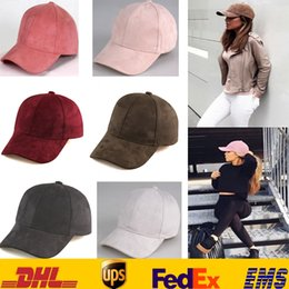 Candy baseball Caps online shopping - Women Men Baseball Caps Hats Hip hop Snapback Flat Hats Fashion Suede Candy Color Visor Sun Basketball Hats Ball Caps Gifts HH H04
