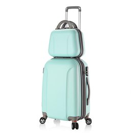 $enCountryForm.capitalKeyWord Australia - Women ABS Spinner Luggage and Cosmetic Bag 2pcs Set 20 24 28 Inch Coded Lock Travel Trolley Suitcase Sets 9 Colors