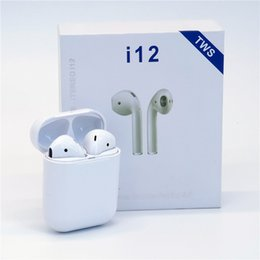 Iphone Calling NZ - i12 wireless touch Bluetooth headset with charging bin call listening to sports headphones V5.0 Android IOS system FOR: IPHONE Samsung, etc.