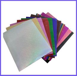 $enCountryForm.capitalKeyWord Australia - Free shipping 11 sheets A4 20cmx30cm Laser Heat Transfer Vinyl Silver Rainbow Laser Iron on Film HTV T-shirt