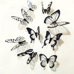 $enCountryForm.capitalKeyWord Australia - Wallstickers Etiqueta Da Parede 36 Pcs 3D Black White Butterfly Paper Stickers For Kids Room Decor Wall Sticker 18MAR29