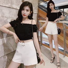 $enCountryForm.capitalKeyWord NZ - Chiffon shorts women's new wear thin black high waist wild loose suit a word wide leg hot pants K18