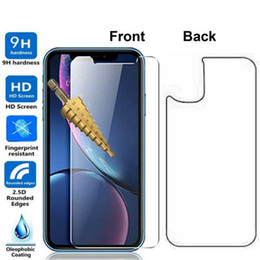 iphone glass screen protector front back Australia - Front and Back Rear Tempered Glass For New IPhone 11 Pro max XR XS MAX X 8 Plus Screen Protector Protective Film Transparent