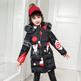 $enCountryForm.capitalKeyWord Australia - Girls Winter Coat 2018 Faux Fur Hooded Coats for Children's Cotton Padded Jacket Fashion Kids Pattern Overcoat Girl Warm Clothes