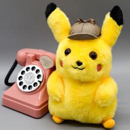 Best Gift For Xmas Australia - New Detective Pikachu Plush Toys 2 styles 25CM Detective Pikachu Plush Dolls Detective Pikachu Stuffed Dolls Best Xmas Gift for Kids