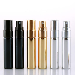 mini fragrance atomizer Canada - beauty spray bottles 5ML Mini Portable aluminum Perfume fragrance Bottle With Atomizer Empty Cosmetic Containers For Travel CZ230