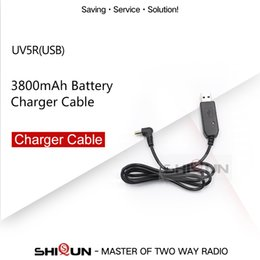 $enCountryForm.capitalKeyWord Australia - Cheap Walkie Talkie 2.5MM USB Charger Cable for BAOFENG UV-5R battery 3800mAh BL-5 5RA 5RB USB Charging Cable for BF-UVB3 Plus UV-S9