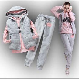 $enCountryForm.capitalKeyWord Australia - 2019 Female Ladies Women's Sweatshirt Vest Pants 3 Pieces Set Plus Velvet Thickening Plus Size Casual Nice Suit Cheap Wholesale Y190823