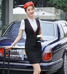 $enCountryForm.capitalKeyWord NZ - Formal Female Skirt Suits for Women Business Suits Work Wear Sets Ladies Waistcoat & Vests Black OL Style