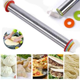 Discount roller rings - Stainless Steel Rolling Pin Spacers Discs Non-Stick Adjustable Thickness Removable Rings Dough Roller For Baking Dumplin