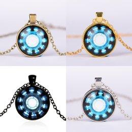 Necklaces Pendants Australia - Phone Chain Charm Fashion Gemstone Necklace Necklaces Pendants Avengers Endgame Iron Man Captain America Heart Arc Necklace A41006