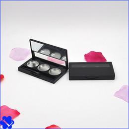 Wholesale Empty Eyeshadow Palettes Australia - 50pcs lot Women Empty Palette Eyeshadow Blusher Lipstick Lip Gloss Powder Fundation DIY Refill Palette with mirror pan brush