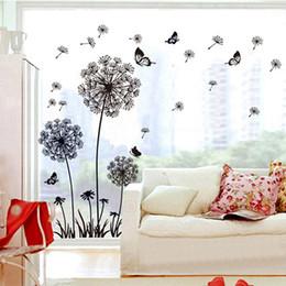 $enCountryForm.capitalKeyWord NZ - Black Dandelion Wall Sticker butterflies on the wall Living room Bedroom window decoration Mural Art Decals home decor stickers