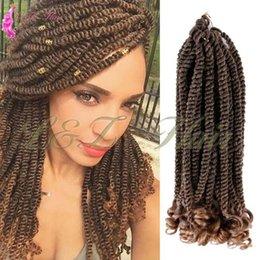 Venta al por mayor de Cabello para trenzar cabello sintético 20strands / paquete 12 pulgadas Havana Twist tamaño mediano Ombre púrpura crochet briads