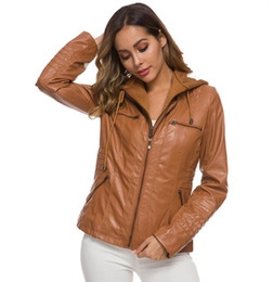Leather sLeeve jackets for women online shopping - Fashion women PU leather jacket ladies hoodies warm jacket noble coat for women with high quality