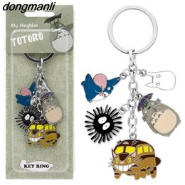 cute japanese anime figure Australia - P1668 Dongmanli New Arrival Cute Japanese Anime Keychain Metal Figures Pendants Key Chains Toy