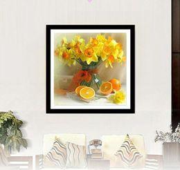 $enCountryForm.capitalKeyWord Australia - Yellow Flower Landscape DIY 5D Diamond Stitch Round 3D Diamond Stitch Tools Kit Diamond Mosaic Room Decor Without Frame