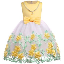 Year Baby Dressing Style Australia - Latest styles 3-10 year Kids girl Sweet embroidered dress Princess for Girl baby Party Birthday Festive dress