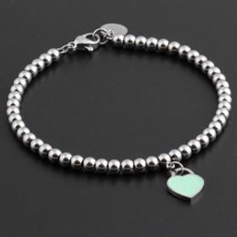$enCountryForm.capitalKeyWord Australia - Hot Famous Brand Titanium Steel Bracelets classic Jewelry Heart Bracelet For Women Charm beads Bracelet pulseiras Jewelry
