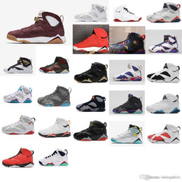 1b844f77b5b225 Cheap new Mens Jumpman 7 VII basketball shoes 7s Olympic Gold MVP  Championship j7 air flights sneakers boots for sale with original box