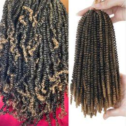 $enCountryForm.capitalKeyWord Australia - 8inch 30strands Spring Twist Crochet Braids Ombre Synthetic Braiding Bomb Twist Hair Extension For Fluffy Twist Strands