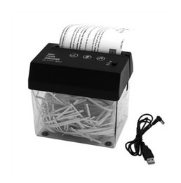 Small Ships Manual UK - Free shipping wholesales 2019 Supply small electric shredder USB shredder Desktop A6 size office household shredder